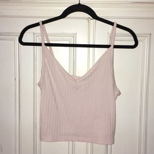 Cute blush pink cropped tank